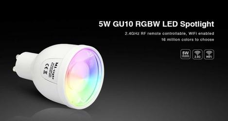 Żarówka milight - 5w gu10 rgbw led spotlight - fut018