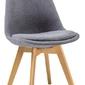 Krzesło tapicerowane magnus ciemnoszare