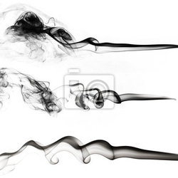 Naklejka czarny kolekcja dymu na białym tle