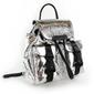 Plecak damski kendall+kylie poppy mini backpack - srebrny