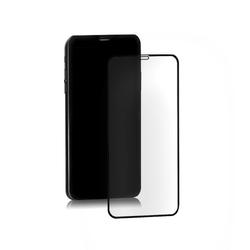 Qoltec Hybrydowe szkło ochronne do iPhone Xr | czarne | pełne