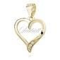 Srebrna pozłacana zawieszka pr.925 serce z cyrkoniami - żółte złoto
