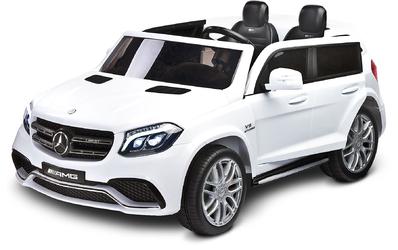 Mercedes GLS63 Biały Samochód na akumulator + PILOT DLA RODZICA