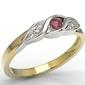 Pierścionek z żółtego i białego złota z rubinem i diamentami ap-51zb - rubin i diamenty