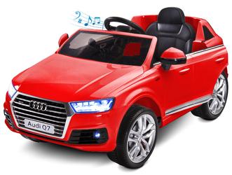 Audi Q7 Czerwony Samochód na akumulator TOYZ + PILOT DLA RODZICA
