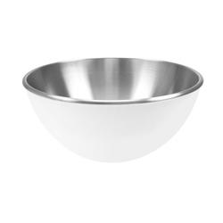 Stalowa miska 16 cm z podwójnymi ściankami biały Zak Designs
