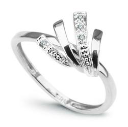 pierścionek białe złoto i diamenty