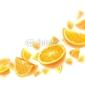 Obraz na płótnie canvas trzyczęściowy tryptyk pomarańcze
