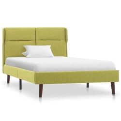 Vidaxl rama łóżka, zielona, tapicerowana tkaniną, 100 x 200 cm