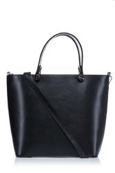 Czarna elegancka klasyczna torebka na rączkach