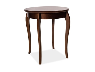 Okrągły drewniany stolik maria iii  wys. 68 cm
