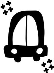 Czarne auto - plakat Wymiar do wyboru: 70x100 cm