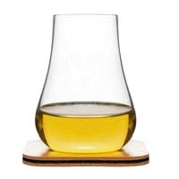 Sagaform - club - 2 szklanki do whiskey ze skórzanymi podkładkami