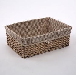 Koszyk  kosz wiklinowy na pieczywo  do organizacji  przechowywania altom design home średni