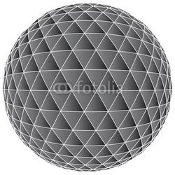 Obraz na płótnie canvas trzyczęściowy tryptyk 3d abstrakcjonistyczny balowy tło - wektorowa ilustracja