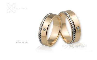 Obrączki ślubne - wzór au-051