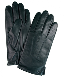 Czarne skórzane rękawiczki 8,5
