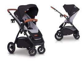 Easygo optimo air grey fox wózek do 22 kg z obracanym siedziskiem na pompowanych kołach + torba dla mamy gratis