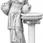 Figura ogrodowa betonowa kobieta obok doniczki 140cm