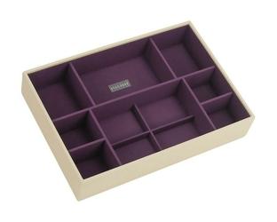 Pudełko na biżuterię 11 komorowe supersize Stackers kremowo-fioletowe