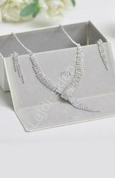 Zestaw biżuterii  ślubnej | zestaw ślubny i wieczorowy, kolia, kolczyki