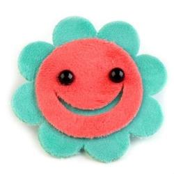Ozdobna aplikacja kwiatek 8cmzielono-różowa 1szt. - 02