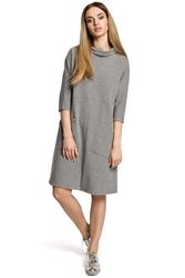Sukienka oversize w sportowym stylu szara m353
