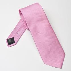 Różowy krawat jedwabny