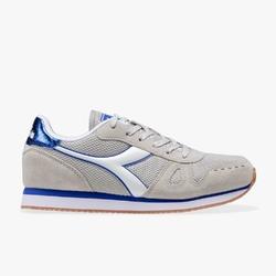 Sneakersy damskie diadora simple run wn - szary
