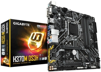 Gigabyte Płyta główna H370M DS3H S1151 4DDR4 HDMIDVID-sub 2PCIe uATX