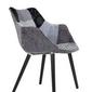 Zuiver :: krzesło tapicerowane twelve szare