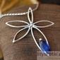 Bluegrass - srebrny wisiorek z szafirem