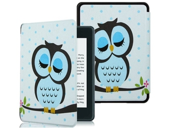 Etui alogy smart case kindle paperwhite 4 sowa + folia - sowa