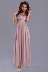 Evalola sukienka- brązowy 7815-8