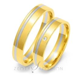 Obrączki ślubne złoty skorpion – wzór au-oe18
