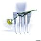 Naklejka samoprzylepna widelec i kwiat