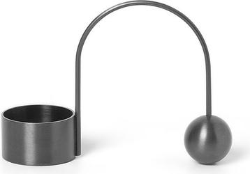 Świecznik mosiężny balance na tealight ciemnoszary