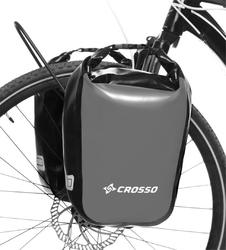 Sakwy rowerowe crosso dry small 30l - szare
