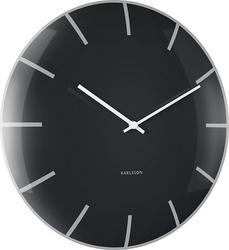 Zegar ścienny szklany Dome czarny