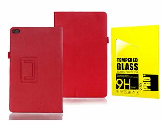 Etui stand case Huawei Media Pad T2 10 Pro CzerwonE +Szkło - Czerwony