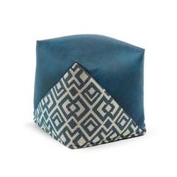Puf lamar 45x45 cm niebieski