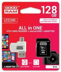 GOODRAM microSDHC 128GB CL10 + ADAPTER + CZYTNIK