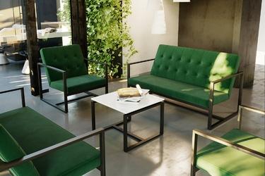 Tapicerowany fotel lukas w stylu industrialnym