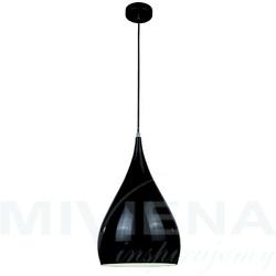 Convex lampa wisząca 1 metal czarna 24 cm