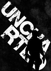 Typography Stencils - Uncharted - plakat Wymiar do wyboru: 50x70 cm