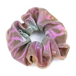 Gumka do włosów ombre metaliczna łosoś scrunchie - pomarańczowa