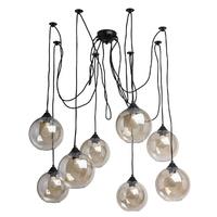 Lampa wisząca w stylu loft z długimi linkami i szklanymi kulami mw-light 392016208