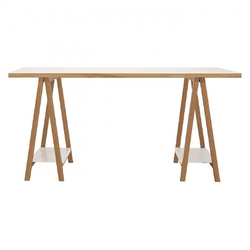Białe biurko highbury w skandynawskim stylu 160 cm