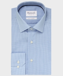 Elegancka koszula michaelis w drobną kratę z kołnierzem klasycznym 38