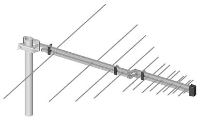 Antena logarytmiczno - periodyczna atk-log5-1221-60 dipol